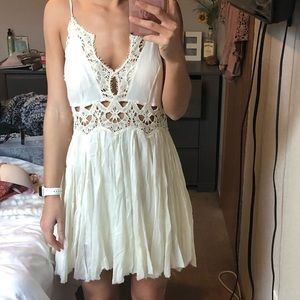 Free People size small short white lace dress